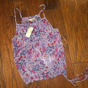 Floral top. Size small. Drawstring bottom. NWT.